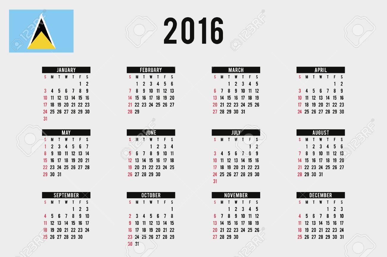 Santa Lucia Calendario.Un Calendario 2016 Con La Bandera De Santa Lucia