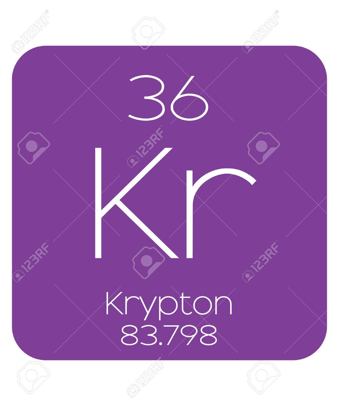 The periodic table of the elements krypton stock photo picture and stock photo the periodic table of the elements krypton urtaz