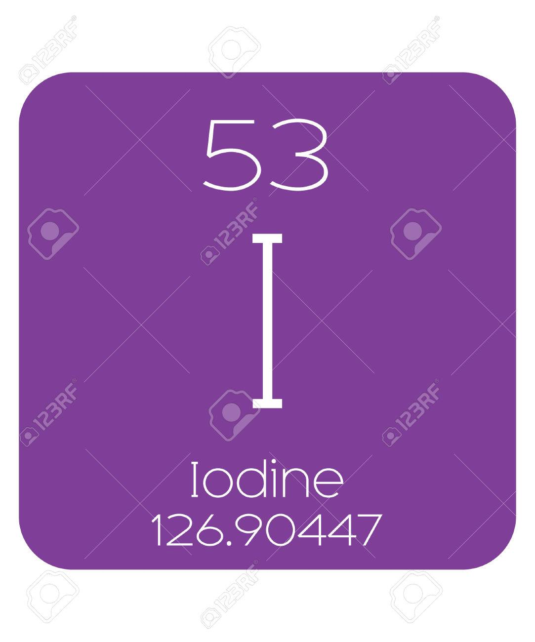The periodic table of the elements iodine stock photo picture and the periodic table of the elements iodine stock photo 46317823 gamestrikefo Choice Image