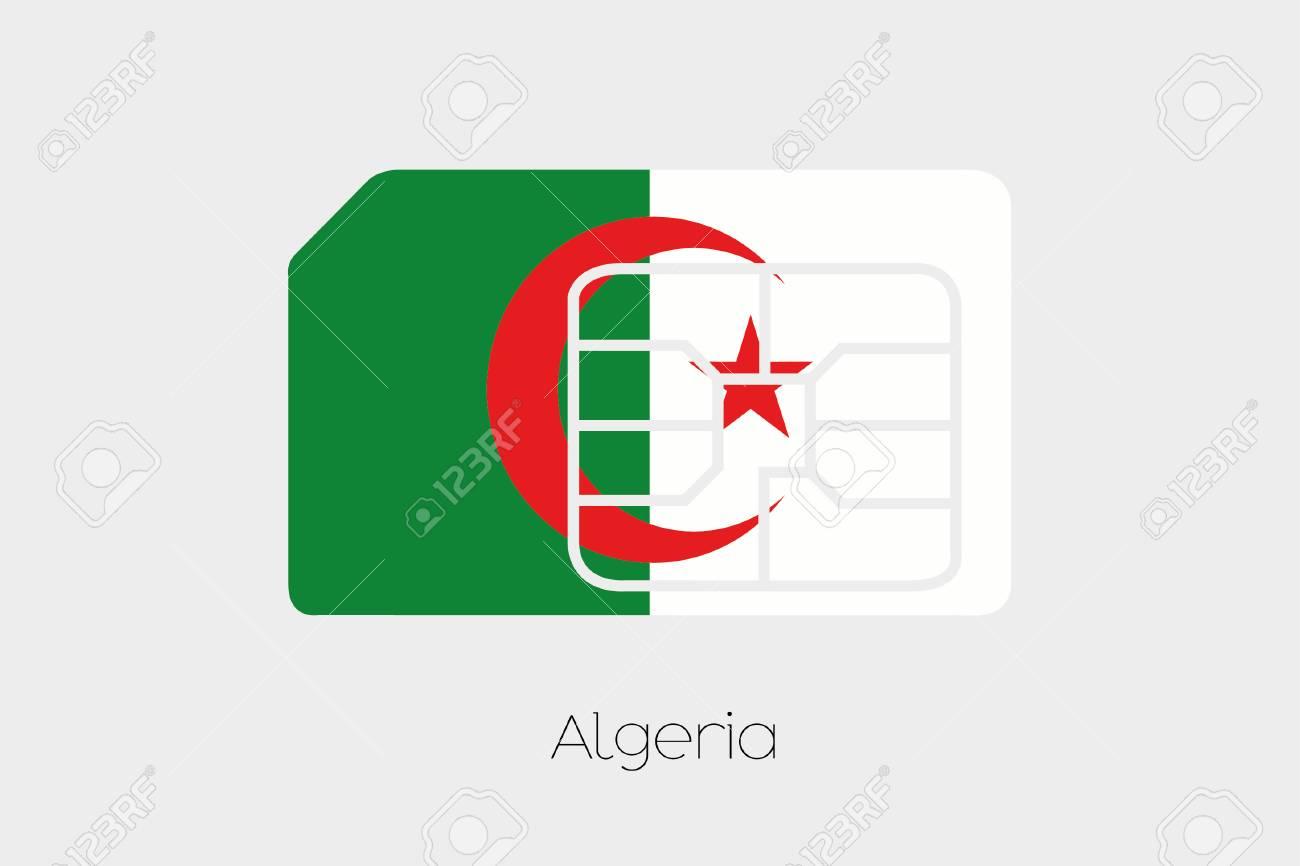 Carte Sim Algerie.Une Carte Sim Drapeau Illustration Du Pays D Algerie