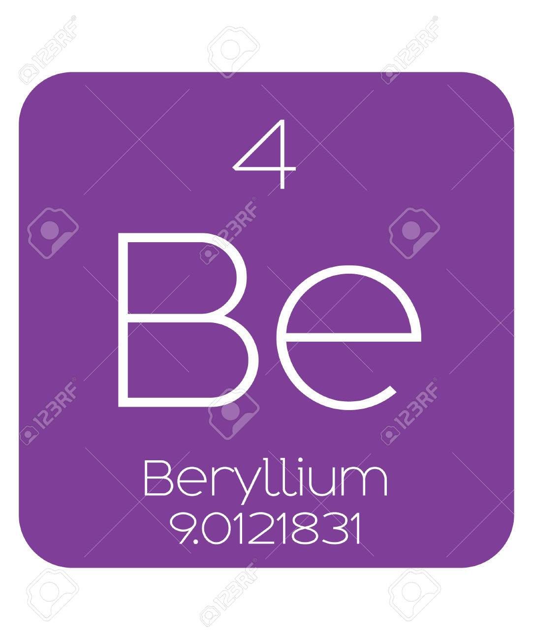 The periodic table of the elements beryllium stock photo picture stock photo the periodic table of the elements beryllium urtaz Choice Image