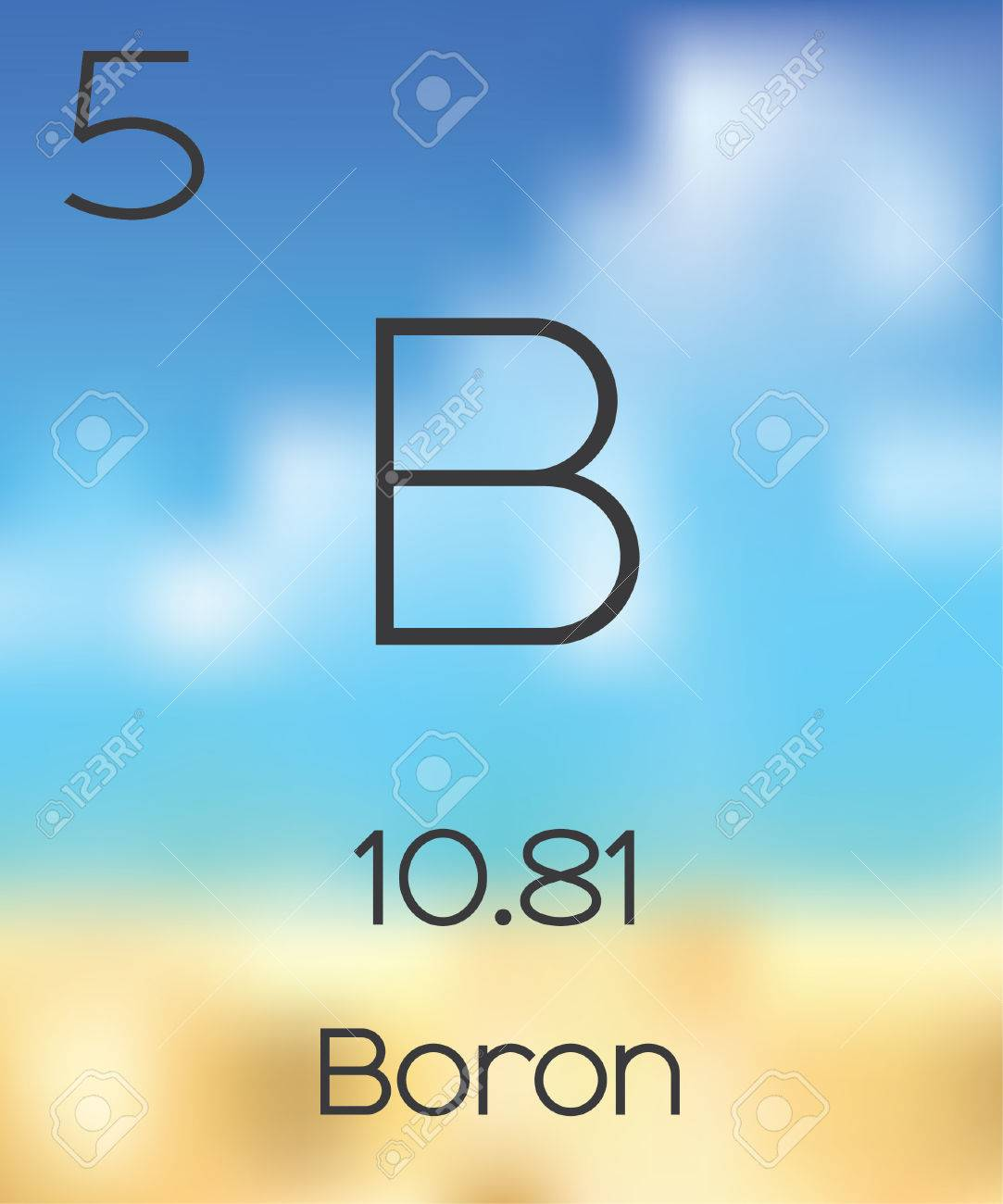 The periodic table of the elements boron stock photo picture and stock photo the periodic table of the elements boron urtaz Image collections