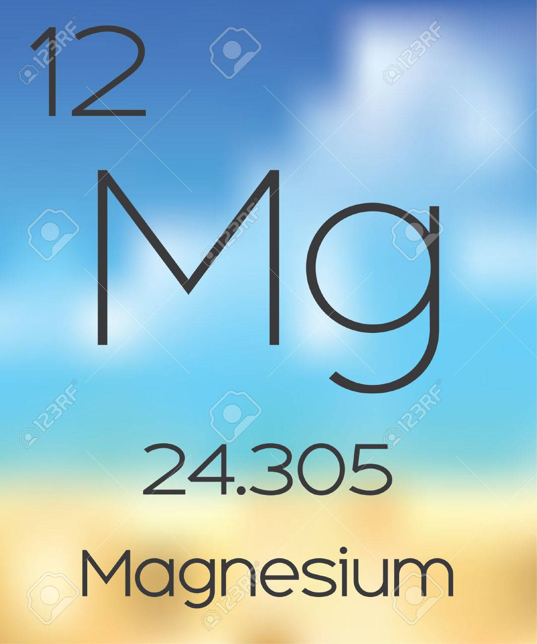 The periodic table of the elements magnesium stock photo picture stock photo the periodic table of the elements magnesium urtaz Images