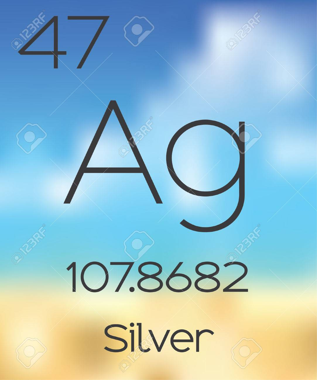 The periodic table of the elements silver stock photo picture and stock photo the periodic table of the elements silver urtaz Choice Image