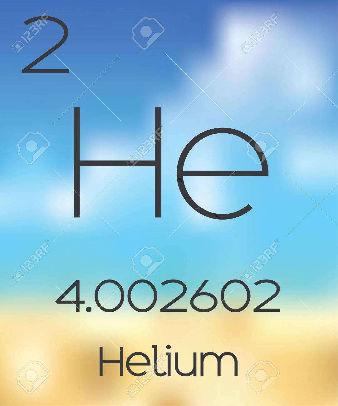 the periodic table of the elements helium stock photo picture and