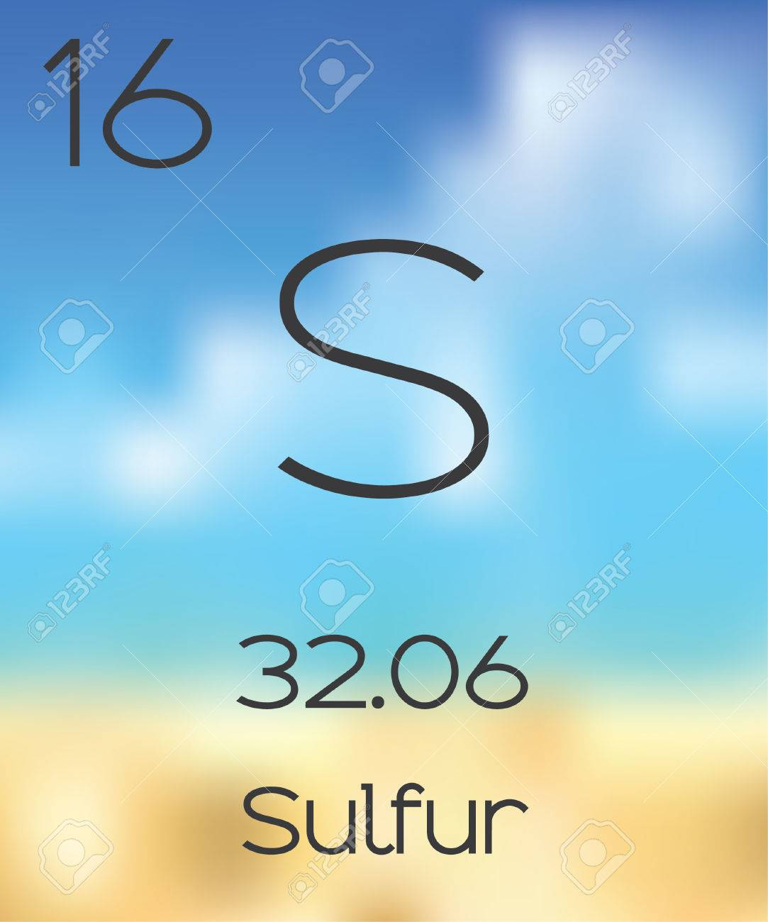 The Periodic Table Of The Elements Sulfur Stock Photo Picture And