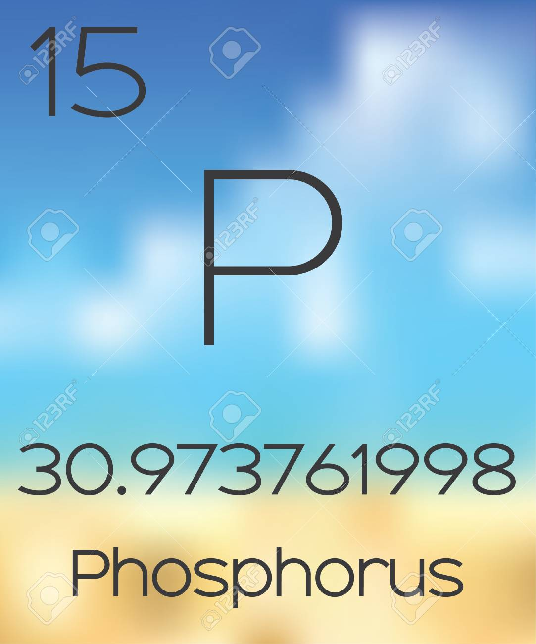 The periodic table of the elements phosphorus stock photo picture stock photo the periodic table of the elements phosphorus urtaz Images