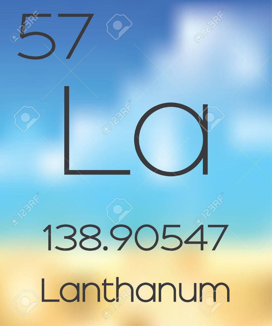 The periodic table of the elements lanthanum stock photo picture the periodic table of the elements lanthanum stock photo 47535990 gamestrikefo Gallery