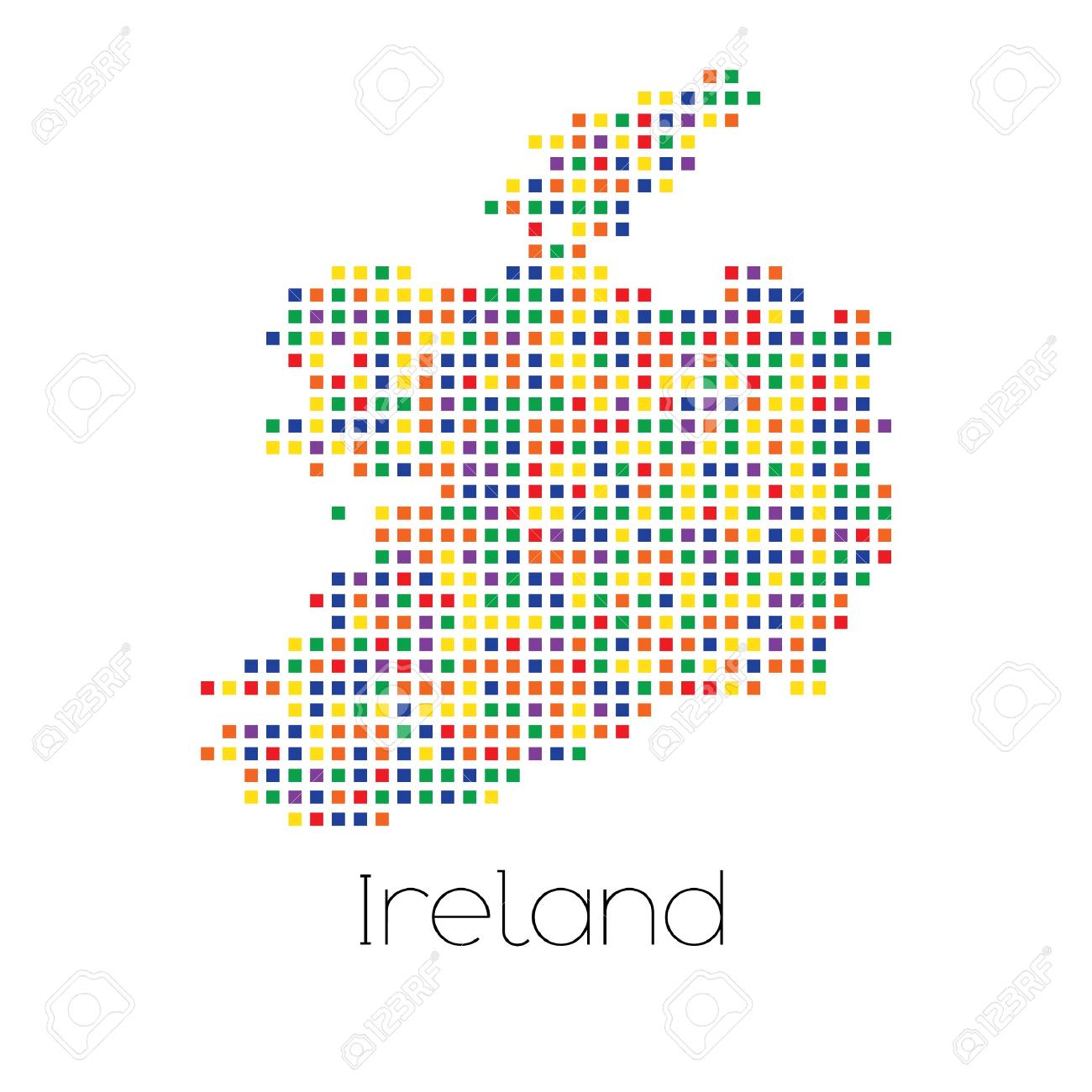 Country Of Ireland Map.A Map Of The Country Of Ireland