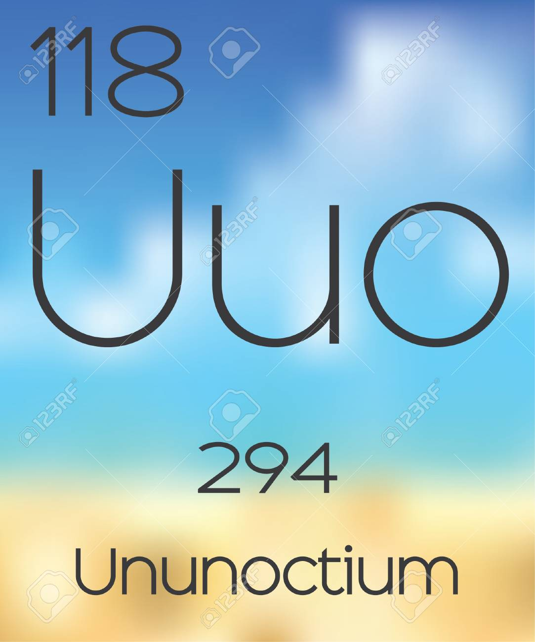 The periodic table of the elements ununoctium stock photo picture stock photo the periodic table of the elements ununoctium urtaz Images