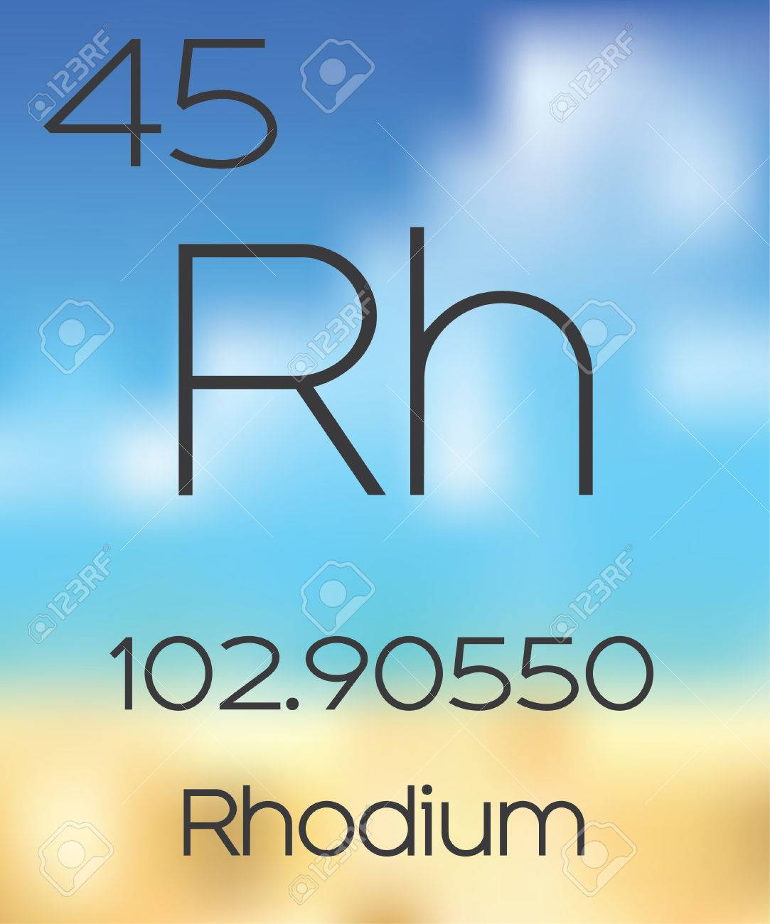 The periodic table of the elements rhodium stock photo picture the periodic table of the elements rhodium stock photo 47595705 gamestrikefo Image collections