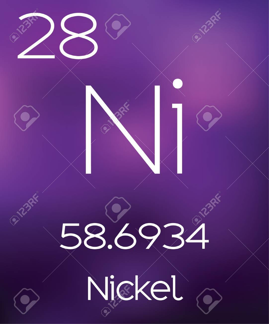 Purple Background with the Element Nickel