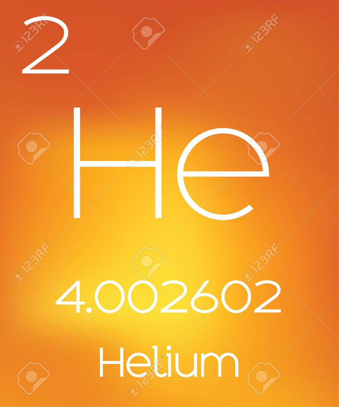 an informative illustration of the periodic element helium stock