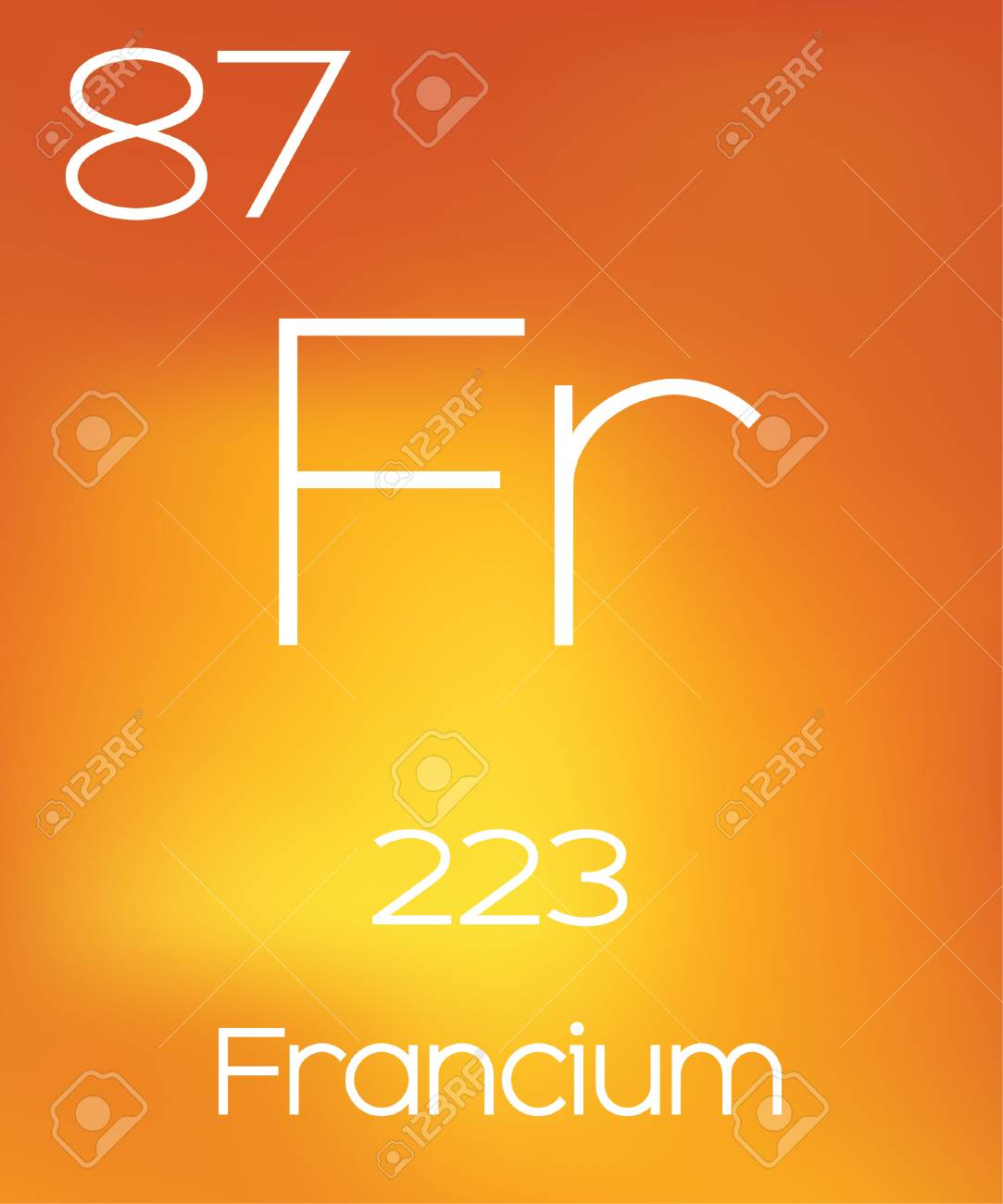 An Informative Illustration Of The Periodic Element Francium Stock