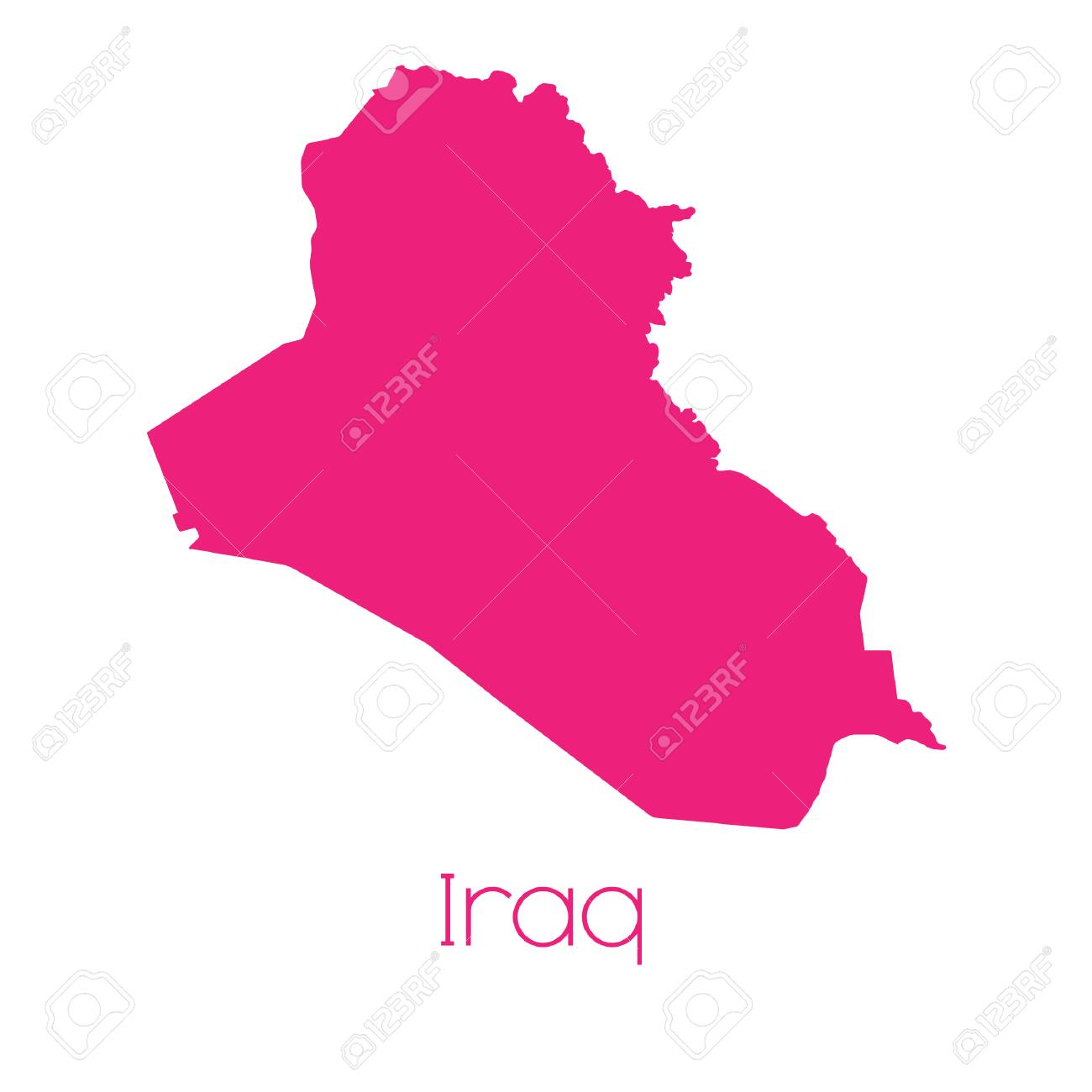 A Map of the country of Iraq