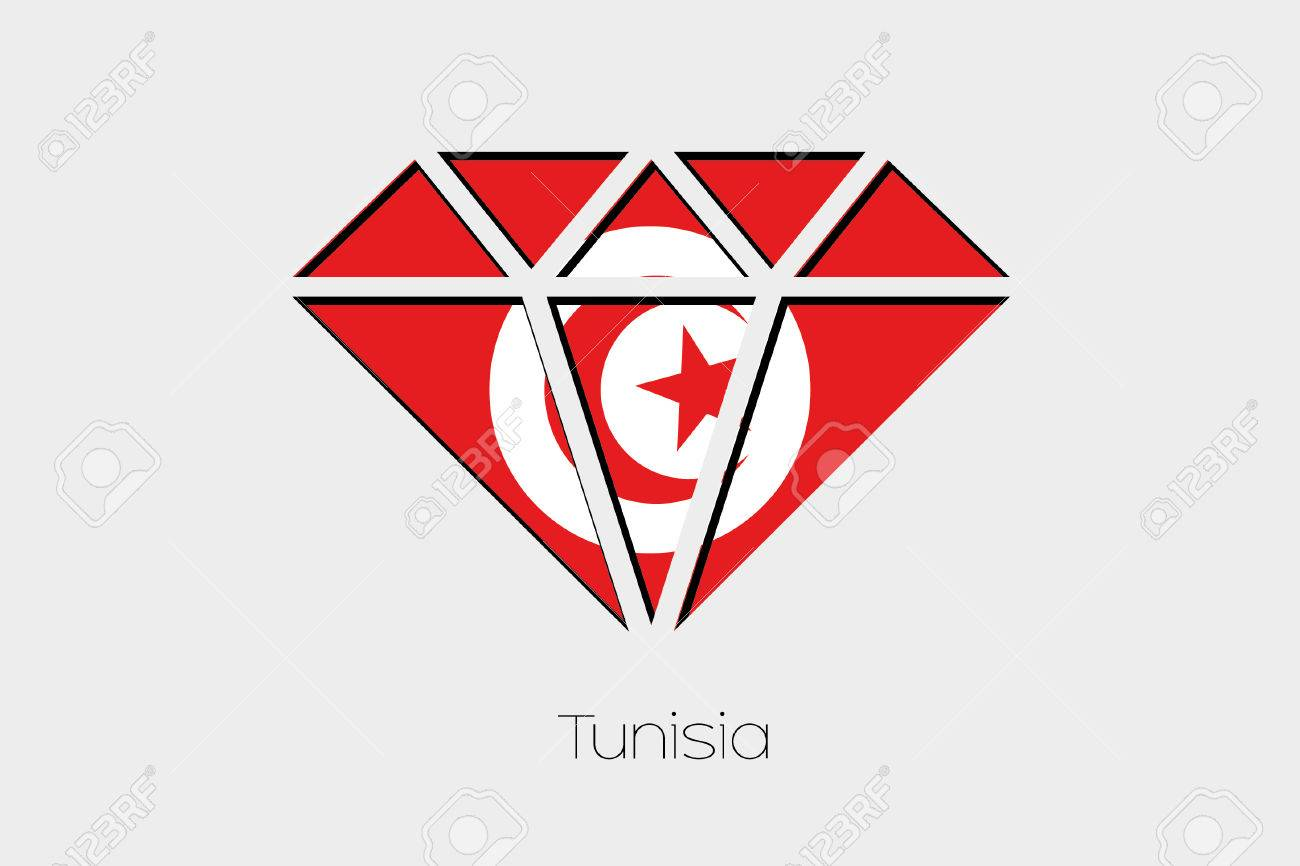 A Flag Illustration Inside A Diamond Of Tunisia Stock Photo Picture And Royalty Free Image Image 52487905
