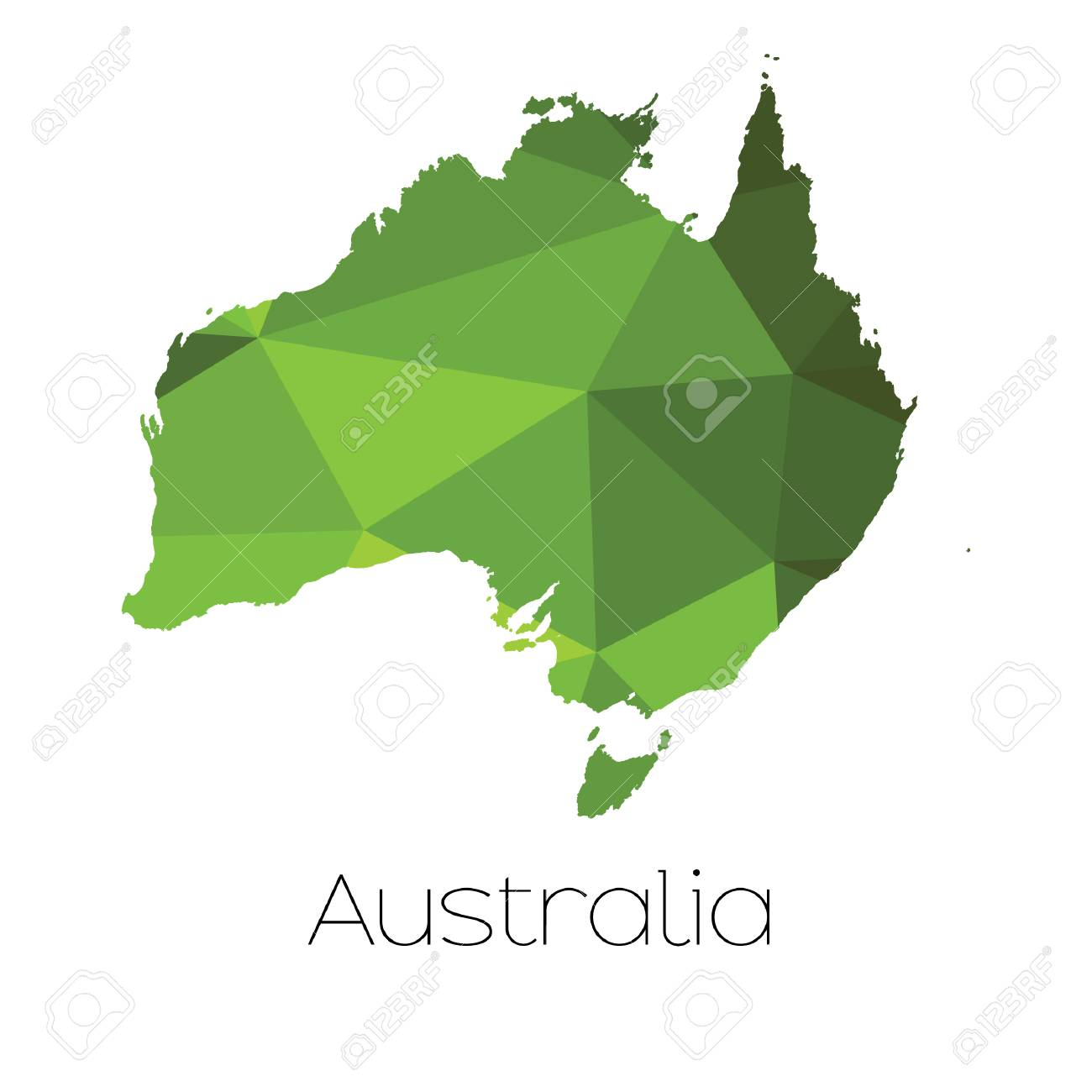 Country Map Of Australia.A Map Of The Country Of Australia