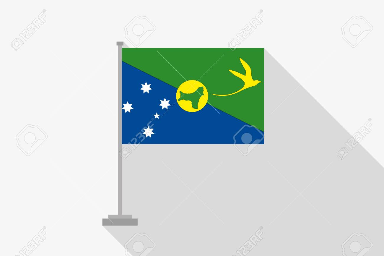 A Flag Illustration Of The Country Of Christmas Island Stock Photo ...
