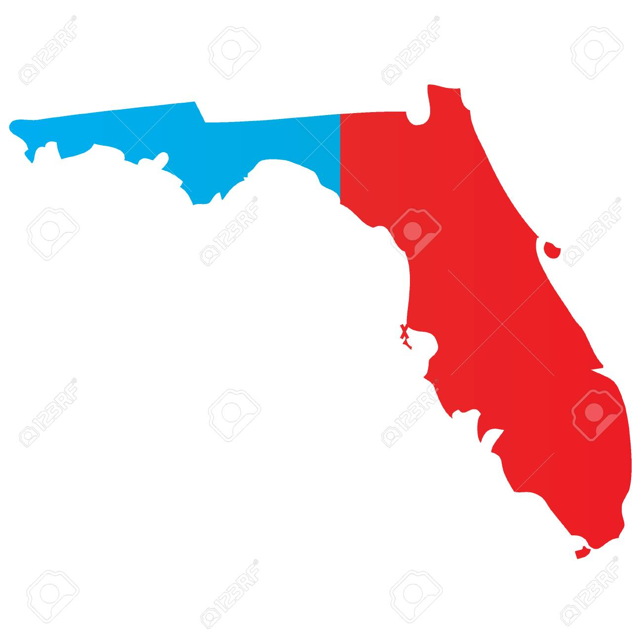 Map State Of Florida.A Map Of The The State Florida
