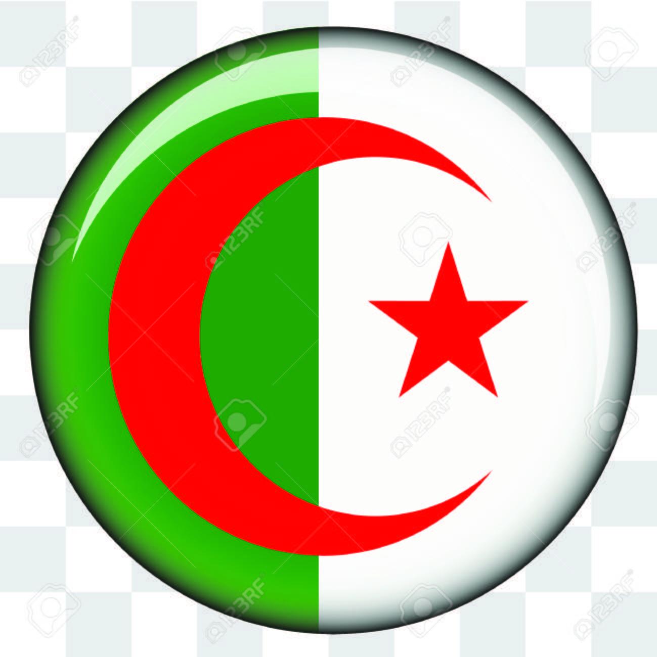 Algerie Drapeau un drapeau de pays illustré d'algérie banque d'images et photos