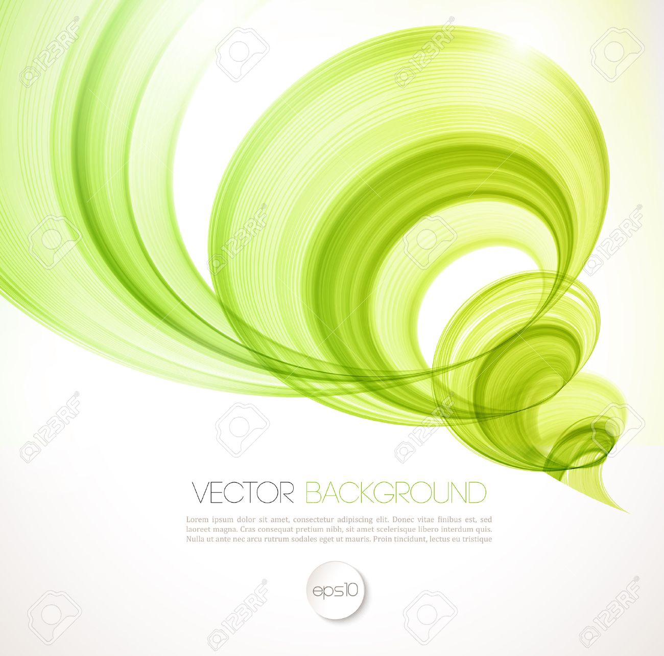 Vector Abstract Twist Waves Background. Template Brochure Design ...