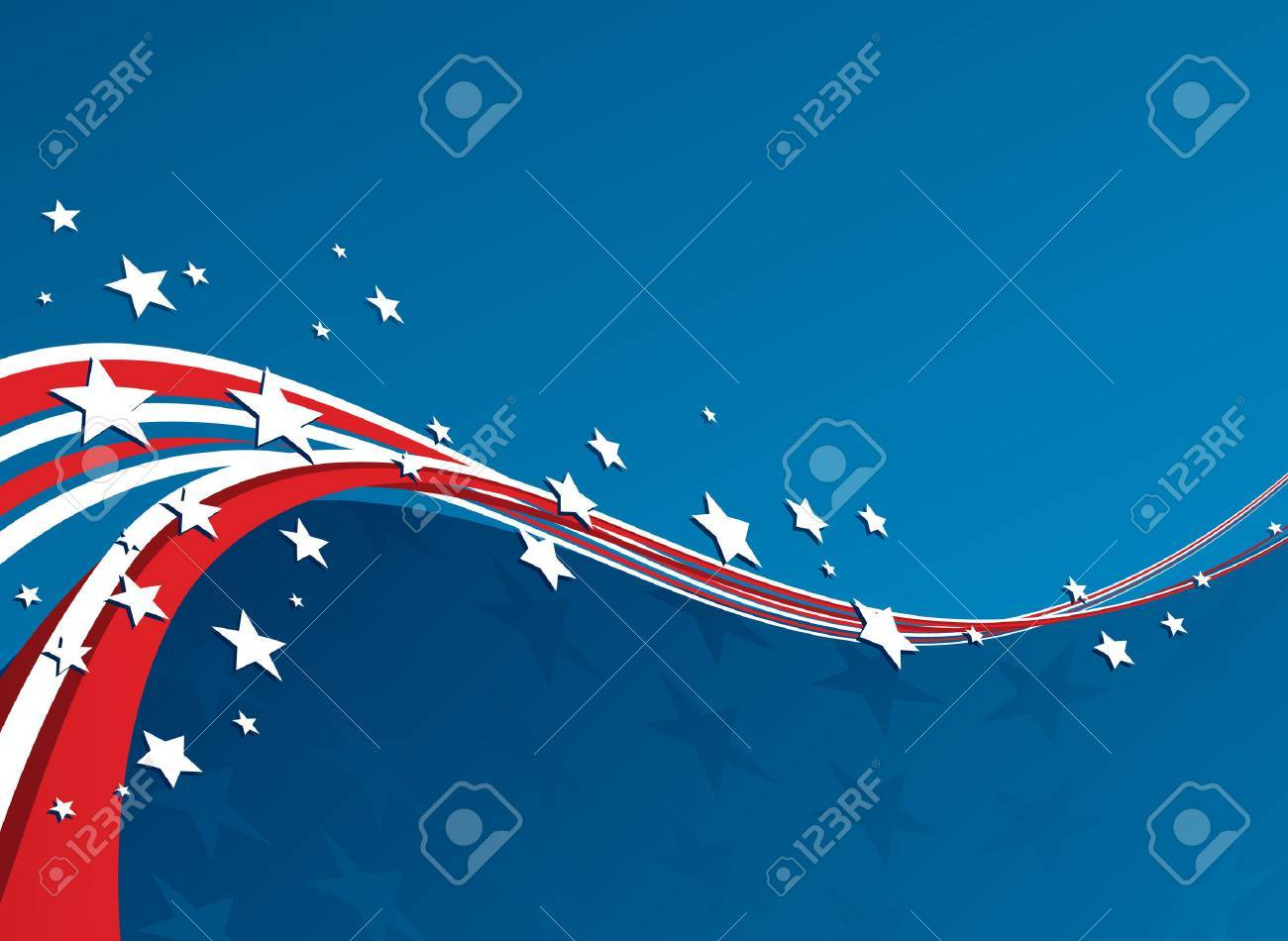 american flag vector patriotic background for independence day