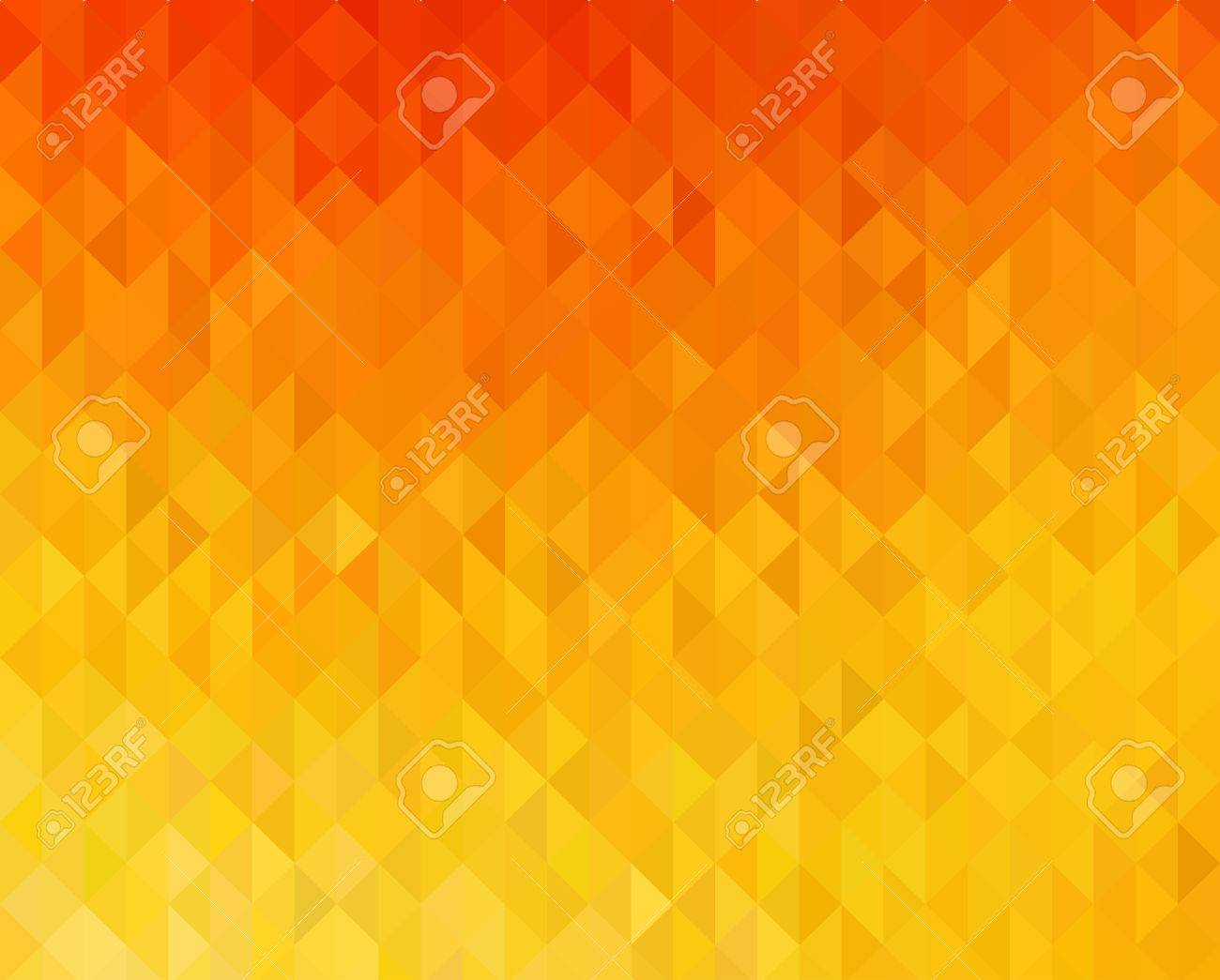 Vector Abstract Orange Color Geometric Background Triangle