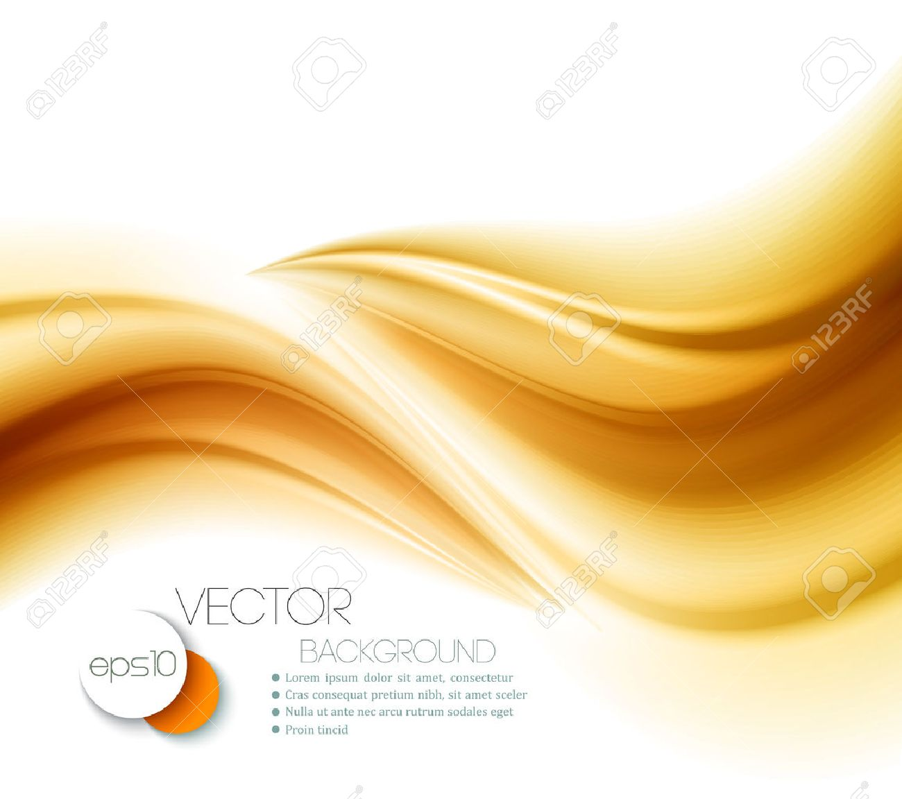 Beautiful Gold Satin. Drapery Background. Vector Illustration Stock Vector - 45574583
