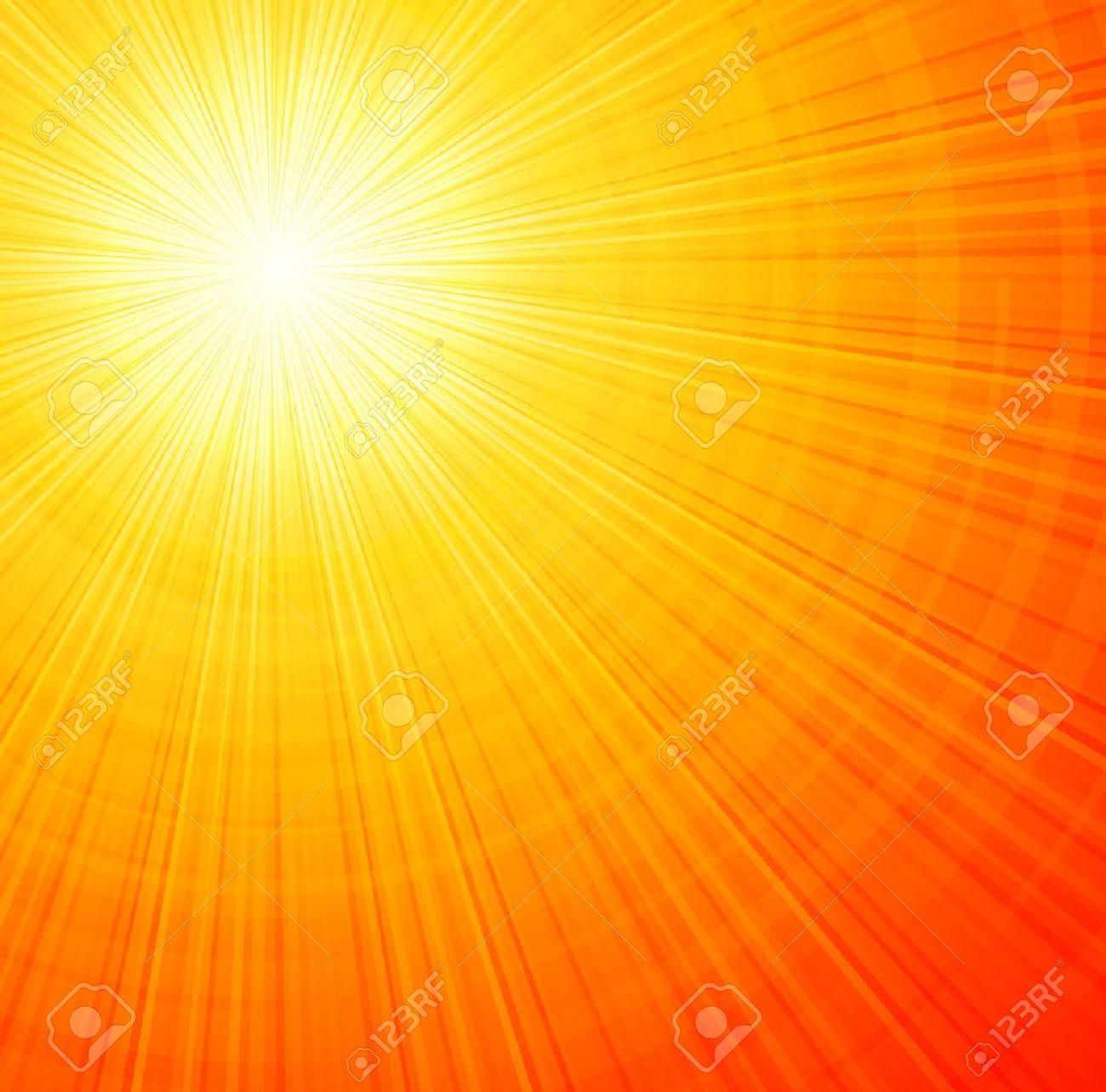 Sunbeams orange abstract vector illustration background EPS 10 - 45633516