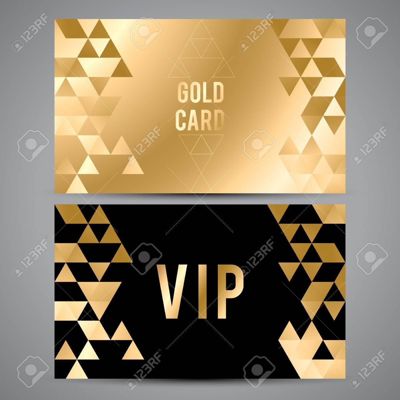 Vector vip premium invitation cards black and golden design vector vector vip premium invitation cards black and golden design triangle decorative patterns stopboris Gallery