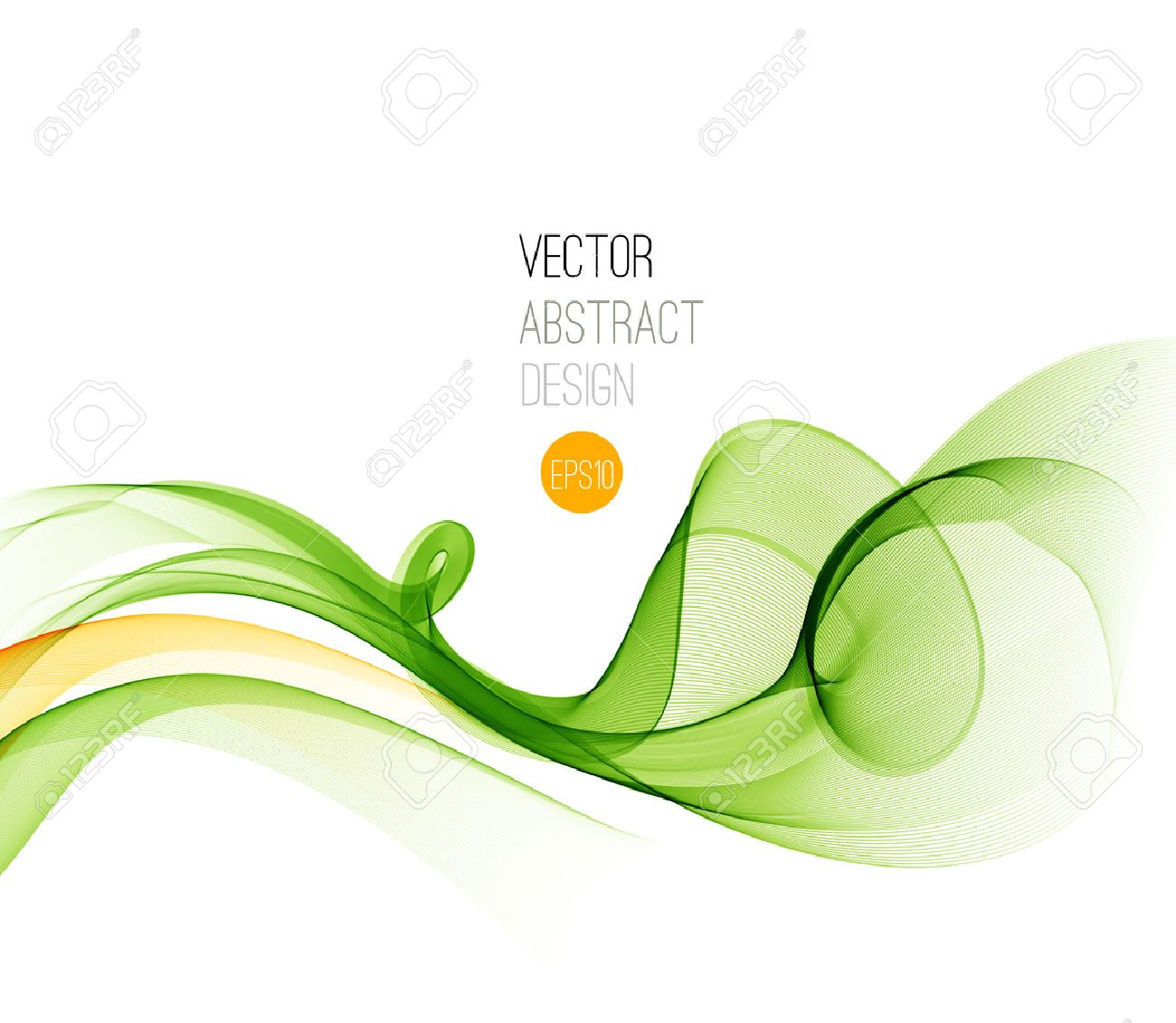 Vector Abstract  Green curved lines background. Template brochure design. Stock Vector - 46903345