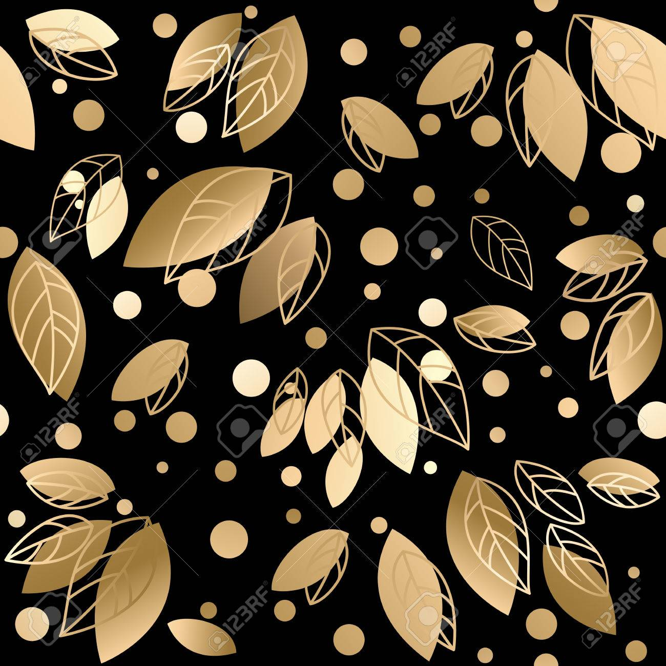 Fall banner with Gold leaves. Vector illustration Stock Vector - 46343812