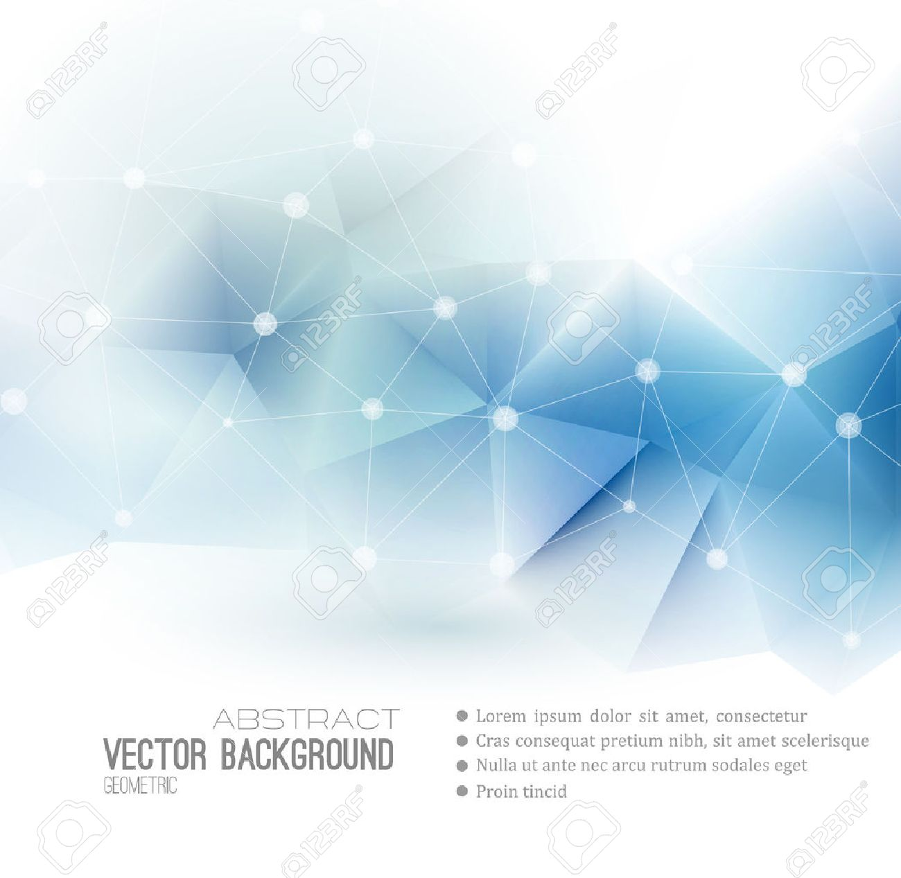 Vector Abstract science Background. Polygonal geometric design. EPS 10 - 46662677