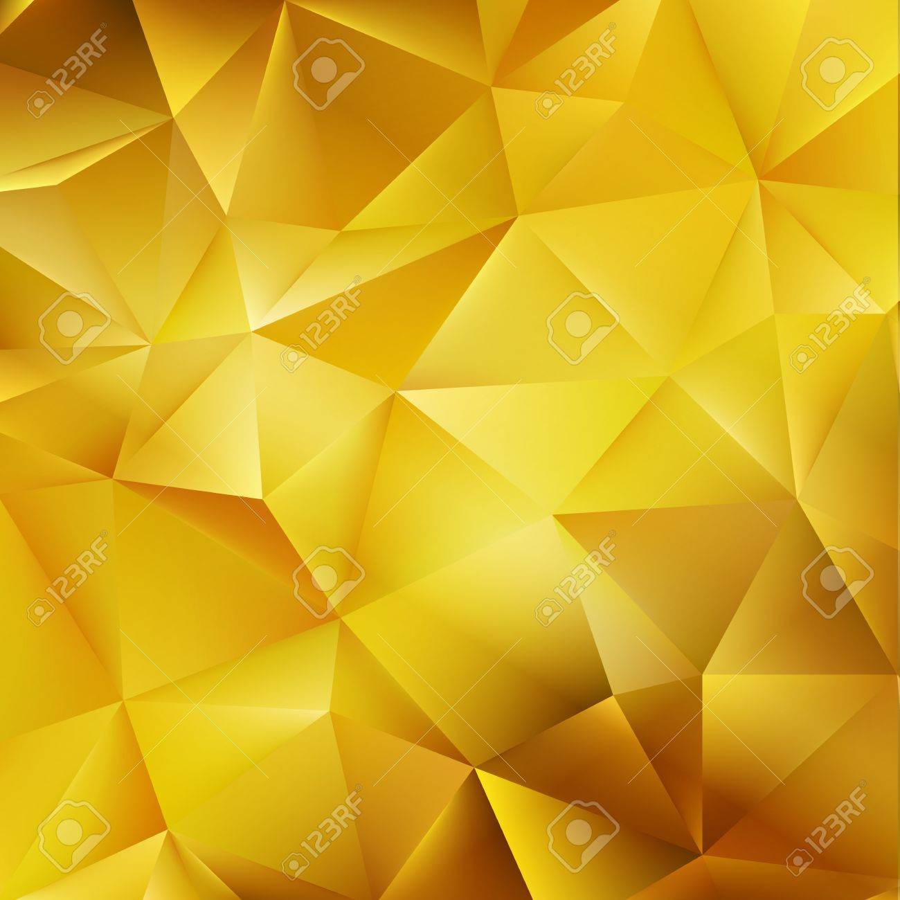 Abstract Color Mosaic Background Gold Vector Background