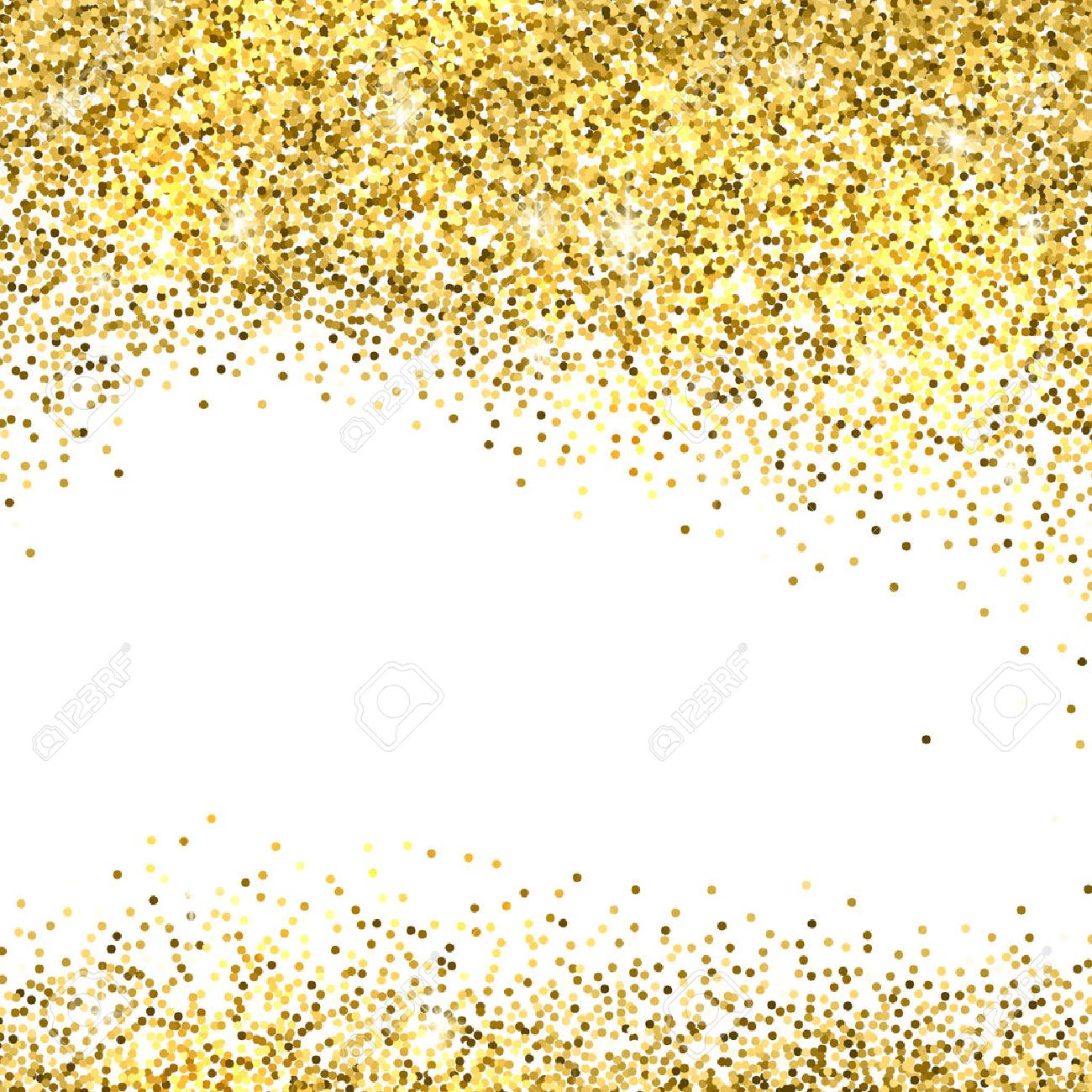gold sparkles on white background gold glitter background stock vector 50380483