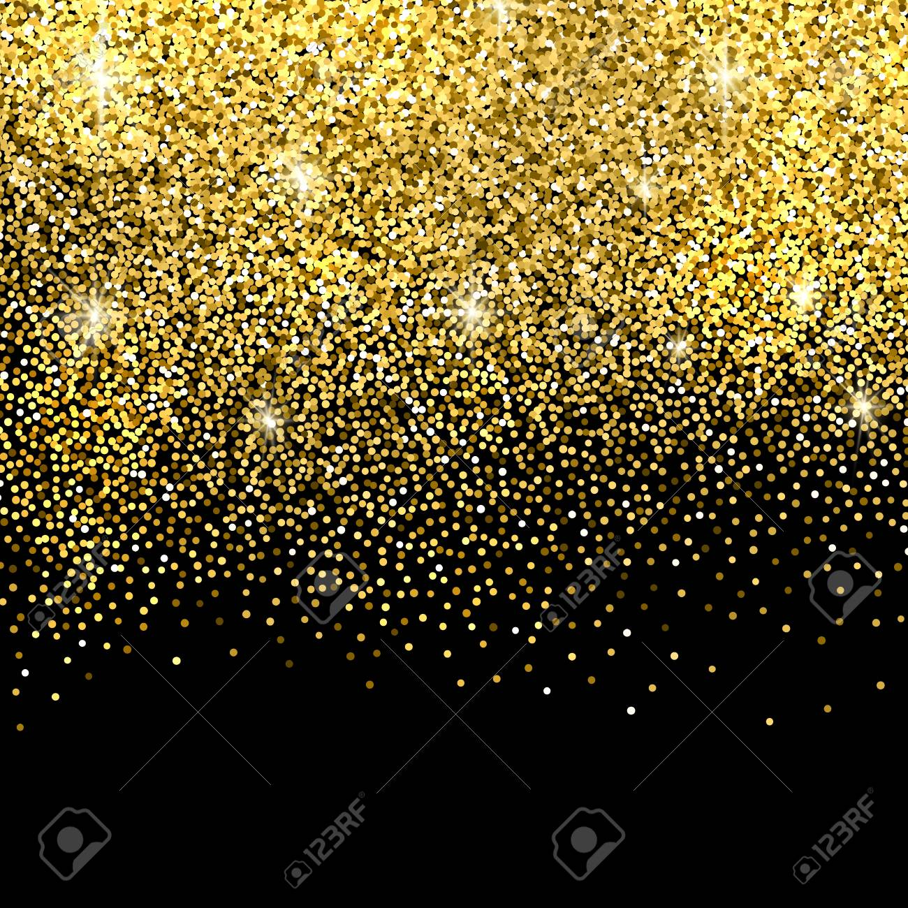 Gold Sparkles On Black Background. Gold Glitter Background. Royalty Free  Cliparts, Vectors, And Stock Illustration. Image 50380500.