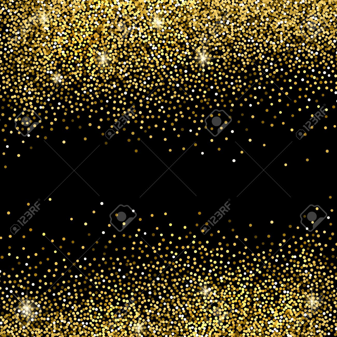 Gold Sparkles On Black Background. Gold Glitter Background. Royalty Free  Cliparts, Vectors, And Stock Illustration. Image 50380503.