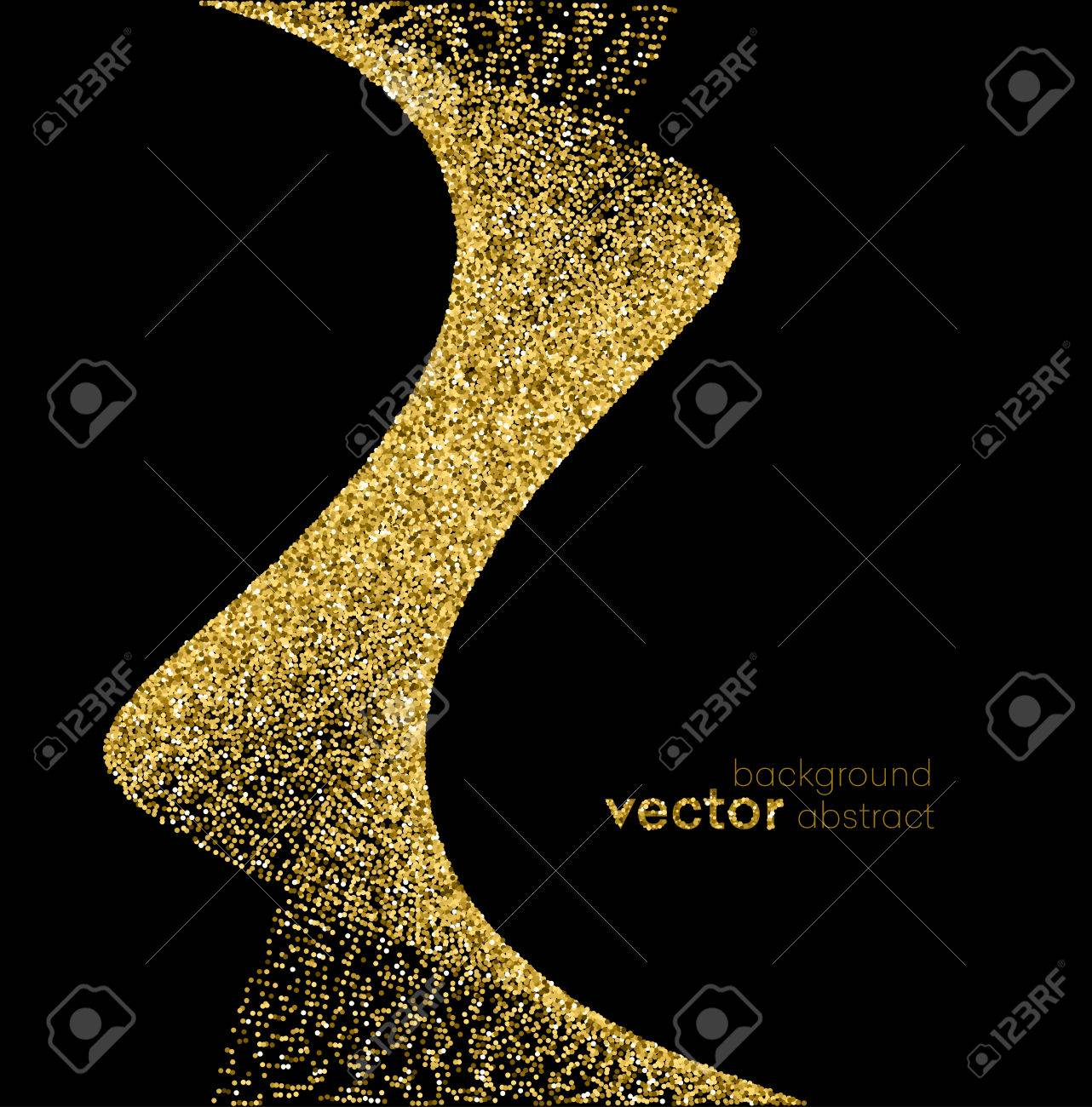 Gold sparkles on white background. Gold glitter background. - 50904835