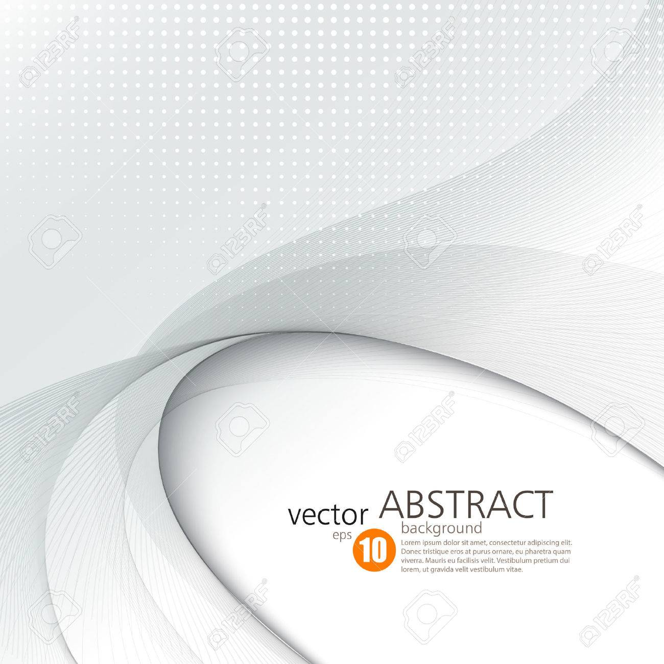 Abstract vector background, smooth waved lines for brochure, website, flyer design. illustration - 51754473
