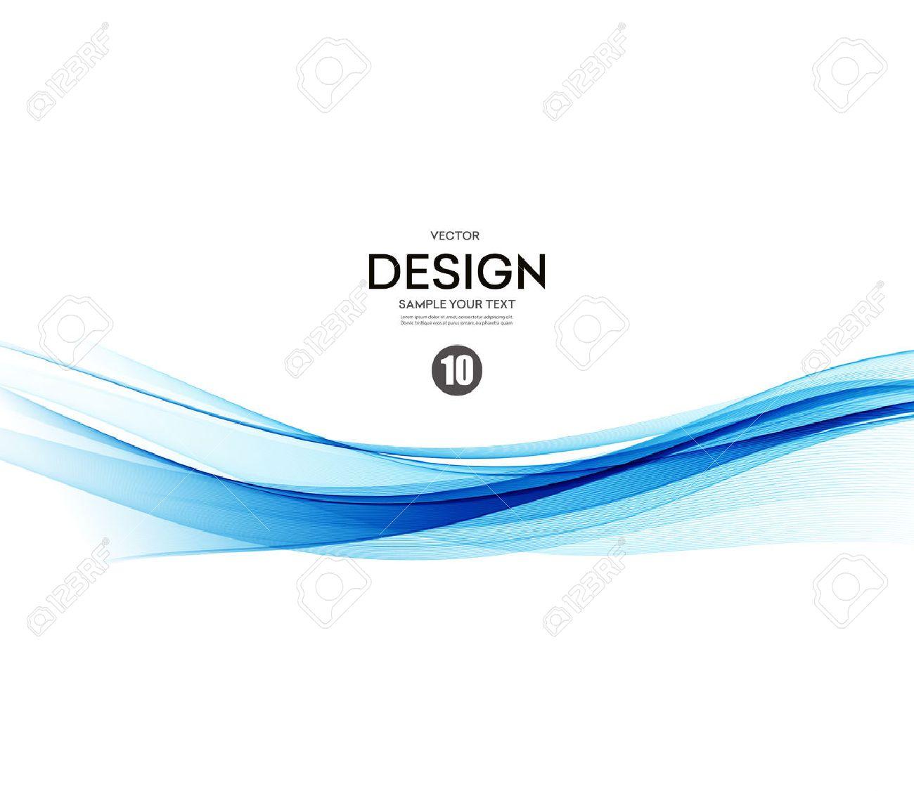 Abstract vector background, blue waved lines for brochure, website, flyer design. illustration eps10 - 52422525