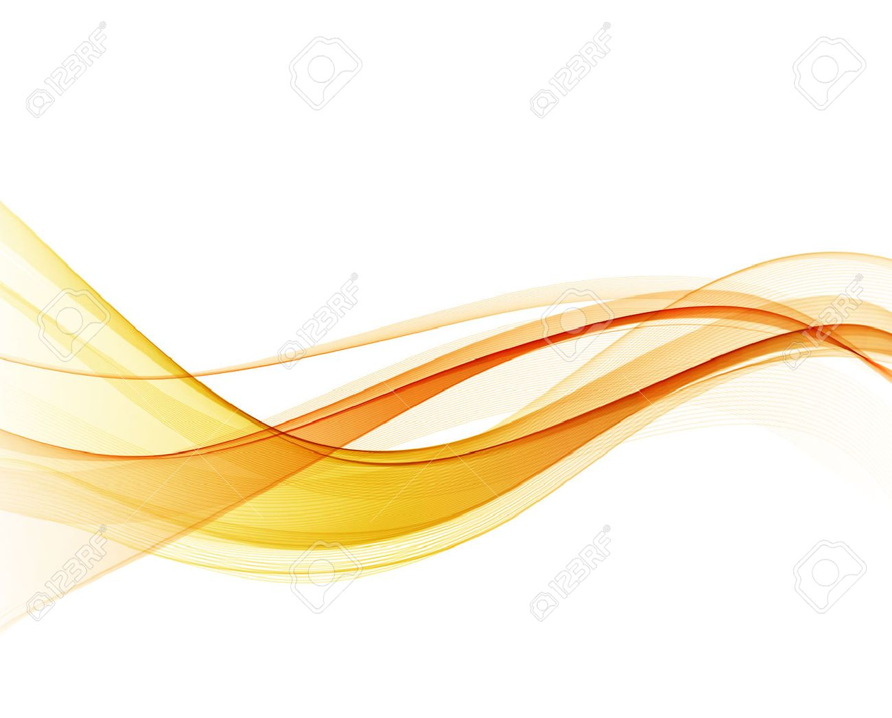 Abstract orange color wave design element. Abstract smooth color wavy vector. Curve flow orange motion illustration. Orange smoke wave lines. Orange wave - 53407909