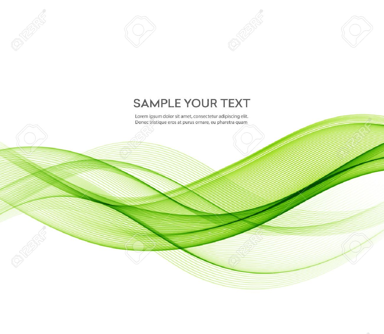 Abstract green wavy lines. Colorful vector background. Green wave. Green smoke wave. Transparent green wave. green wave design - 53408223