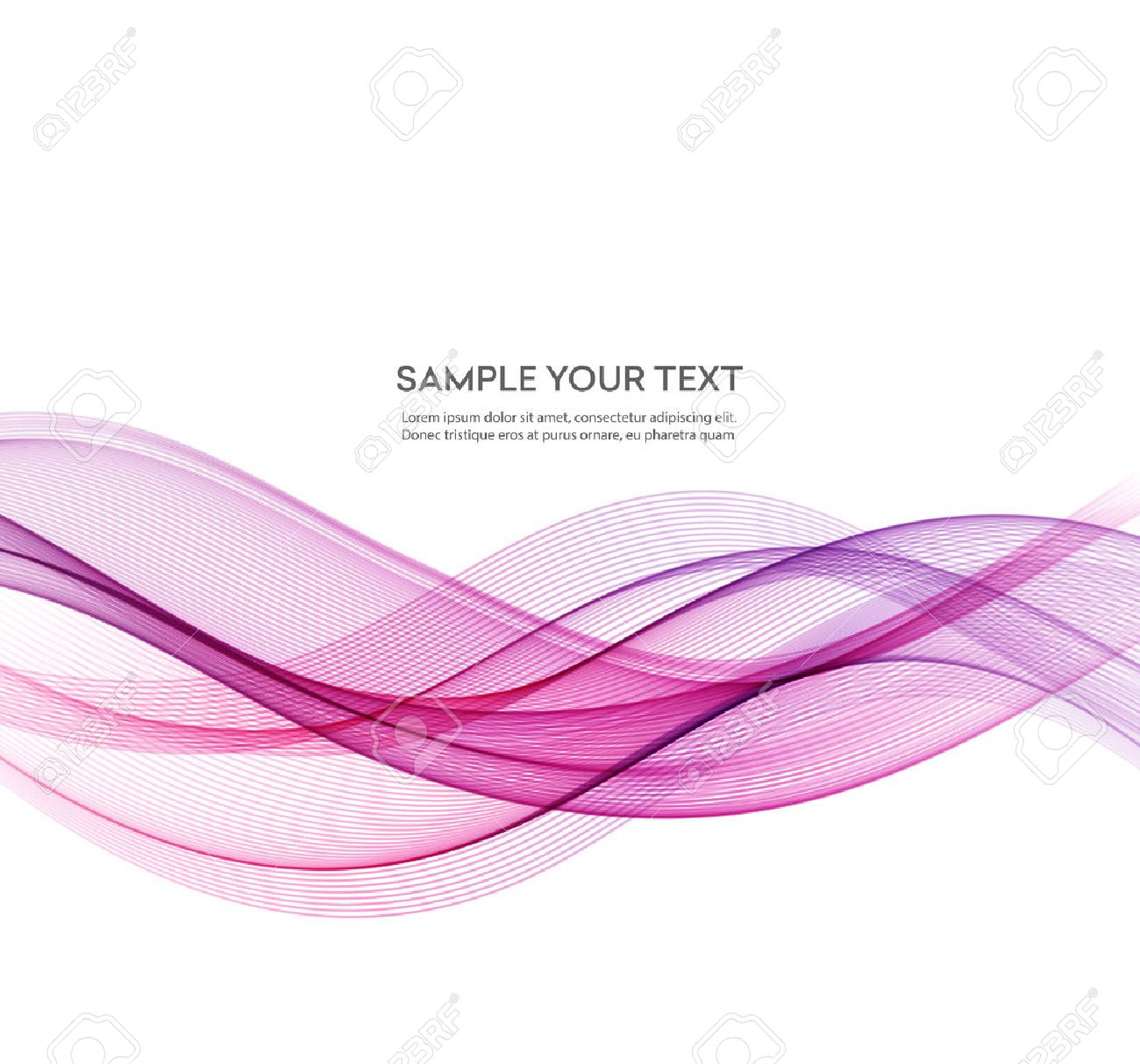 Abstract smooth color wave vector. Curve flow pink motion illustration - 53408229