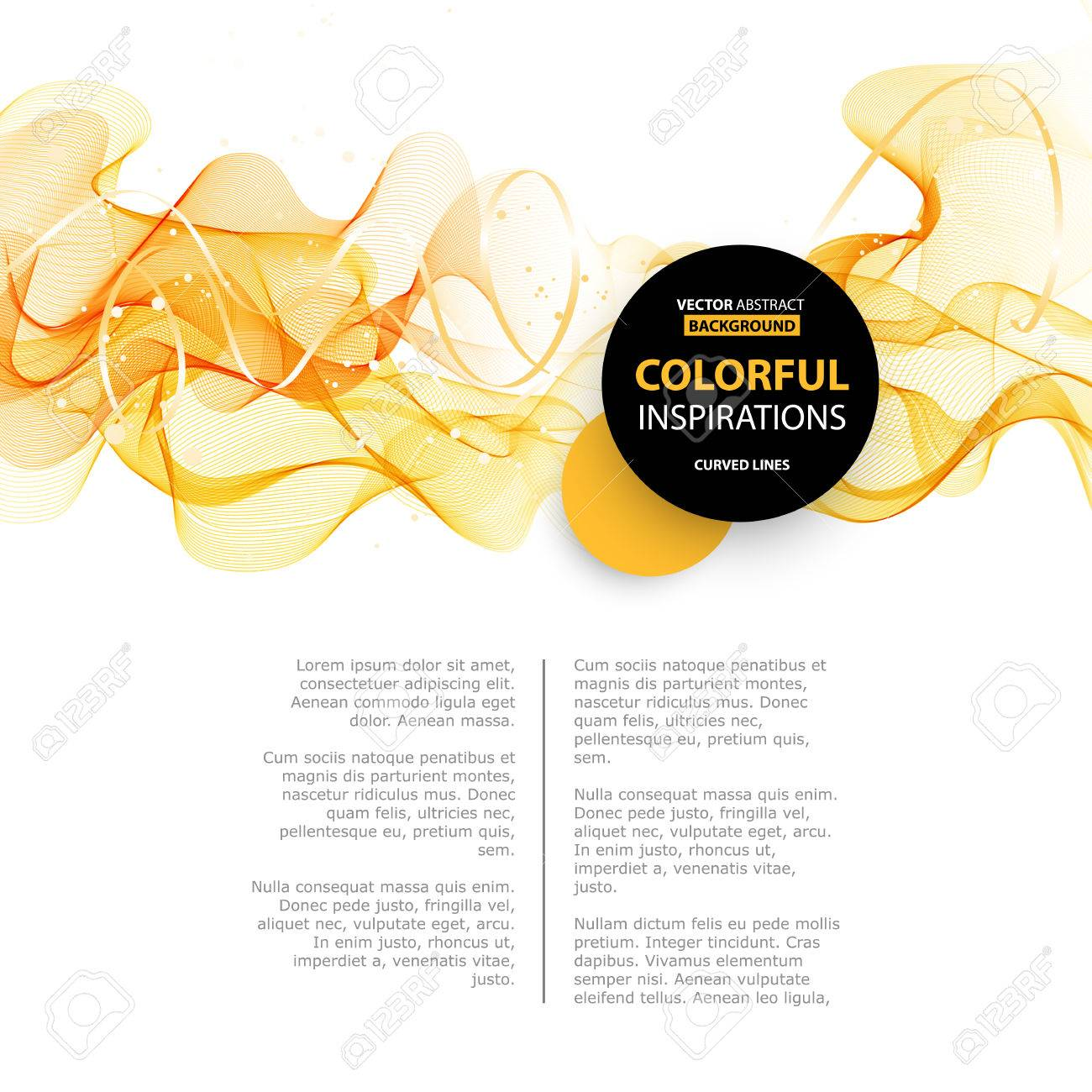 Abstract orange color wave design element. Abstract smooth color wavy vector. Curve flow orange motion illustration. Orange smoke wave lines. Orange wave - 53408480