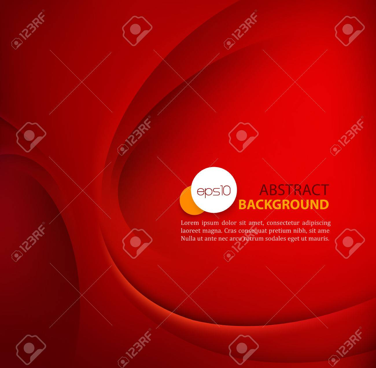 Red vector Template Abstract background with curves lines and shadow. - 53408578