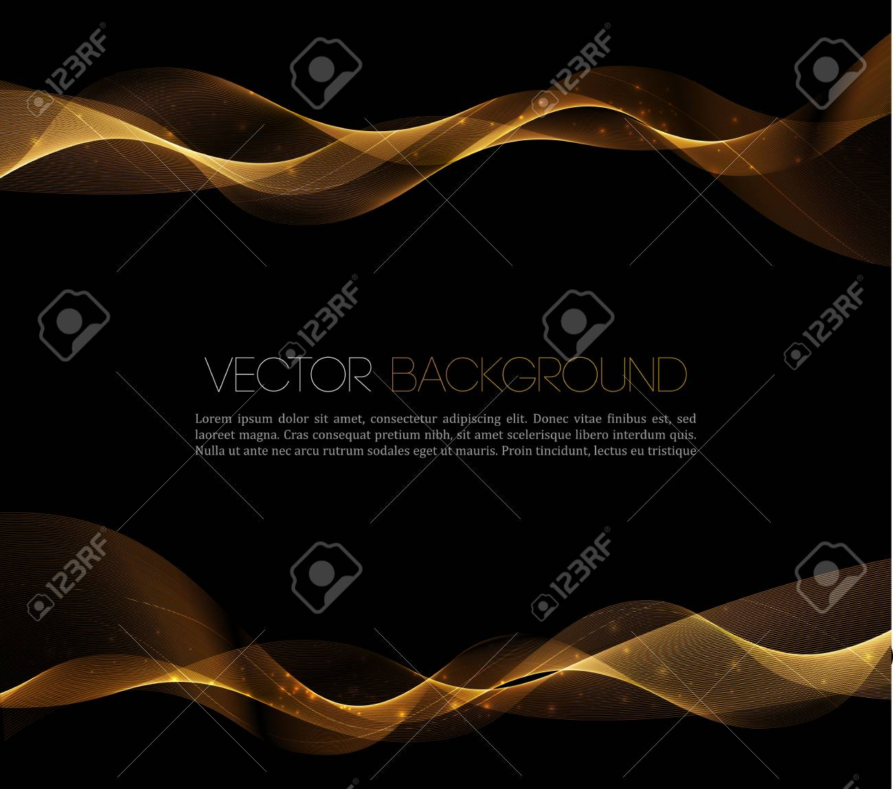 Abstract gold luxury wave layout background. Vector illustration - 54436528