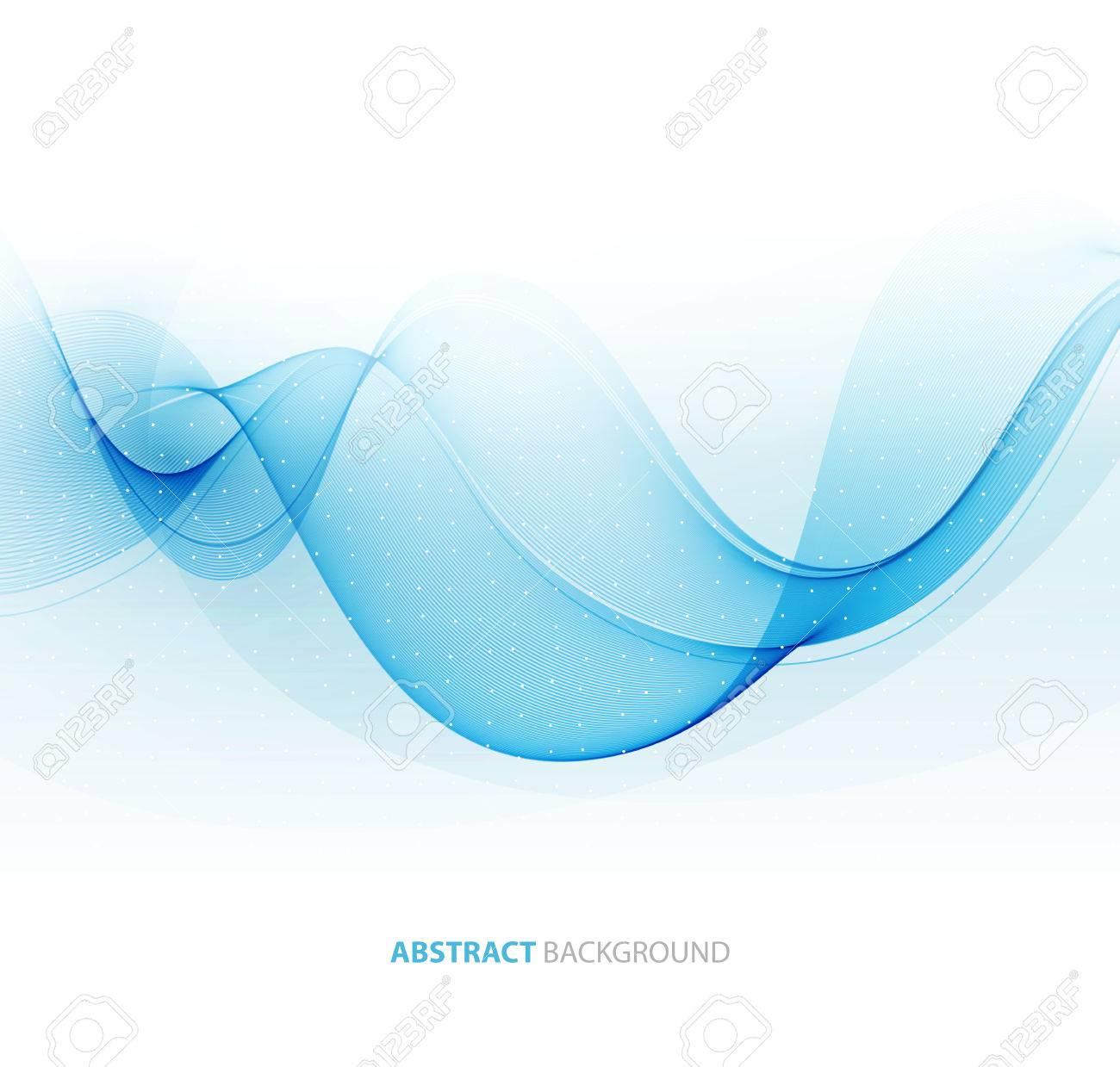 Abstract color wave design element. Blue wave - 54436552