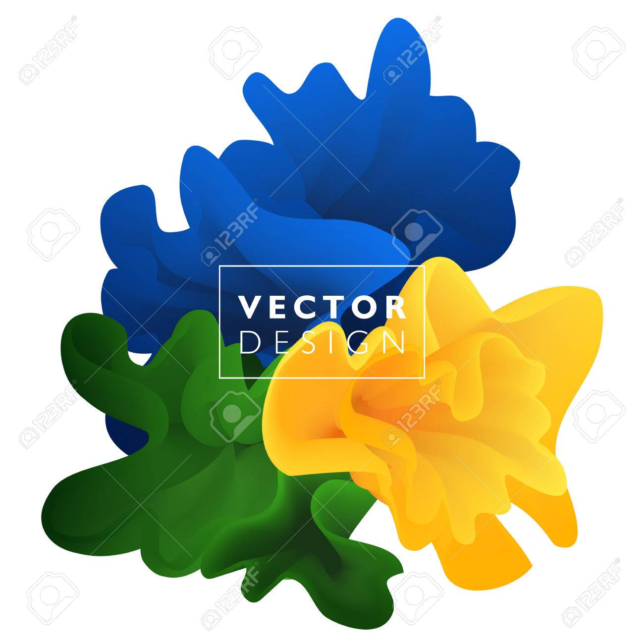 Vector abstract color cloud. Liquid ink splash. Background for banner, card, poster, web design - 56343301