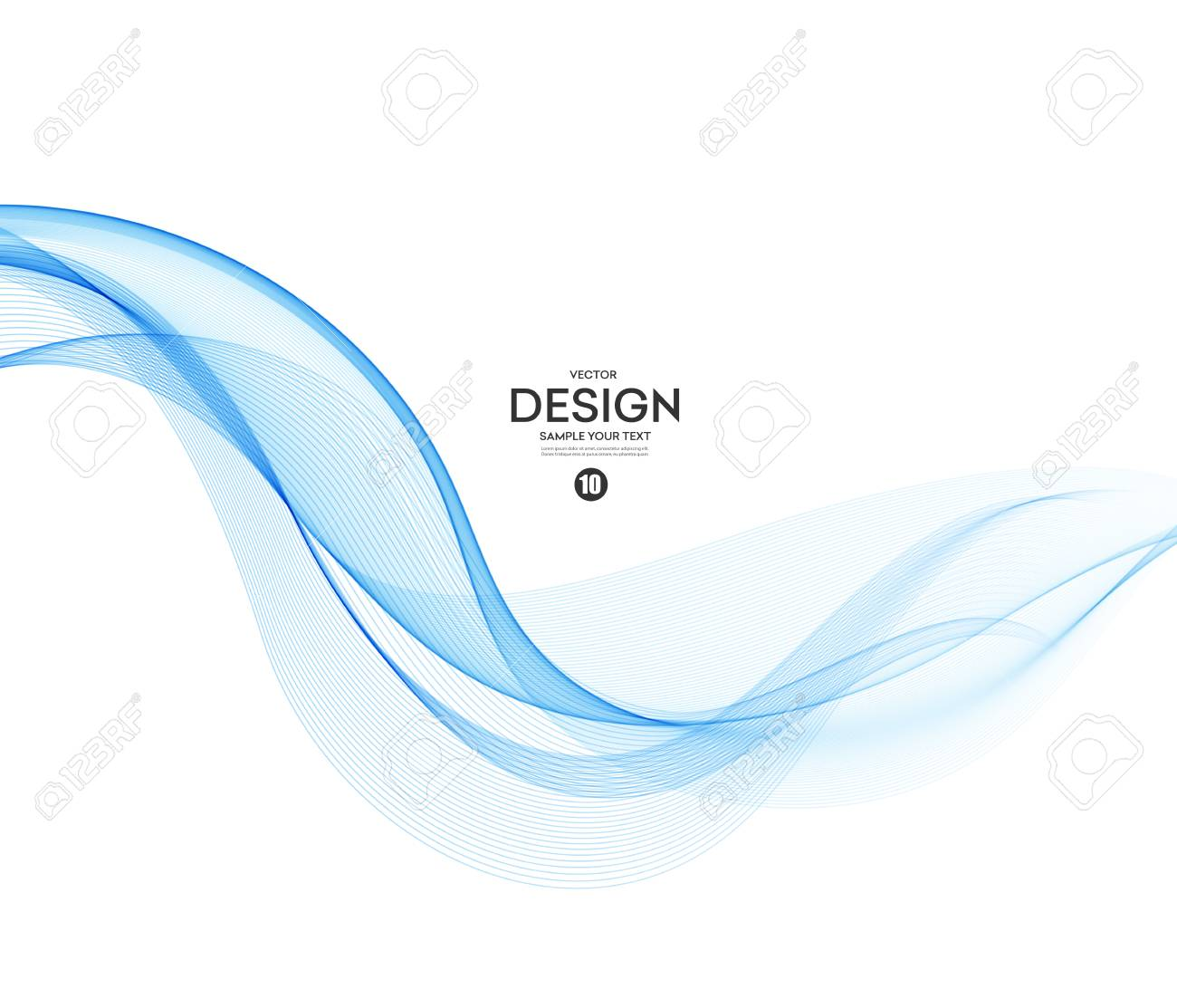 Abstract vector background, blue wavy - 78339853