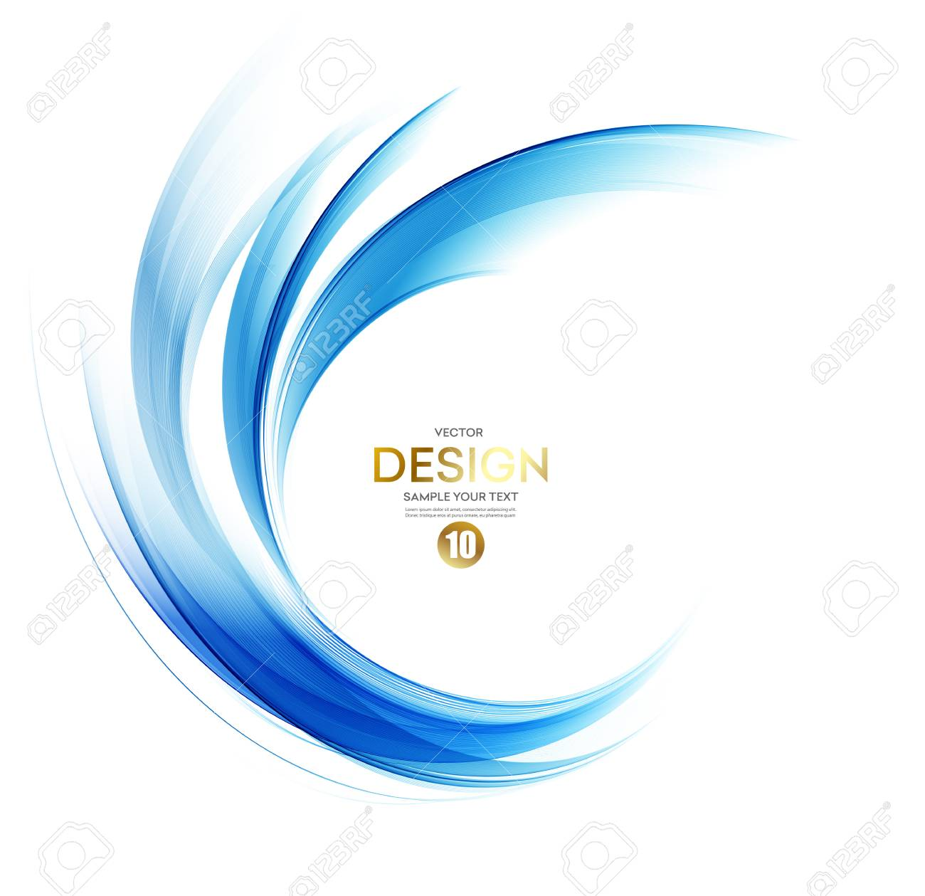 Abstract vector background, blue wavy - 87521299